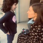 Dr. Erica Rothblum, head of school of Pressman Academy, with young student